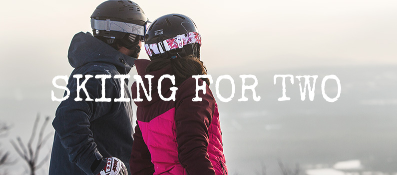 Skiing for two