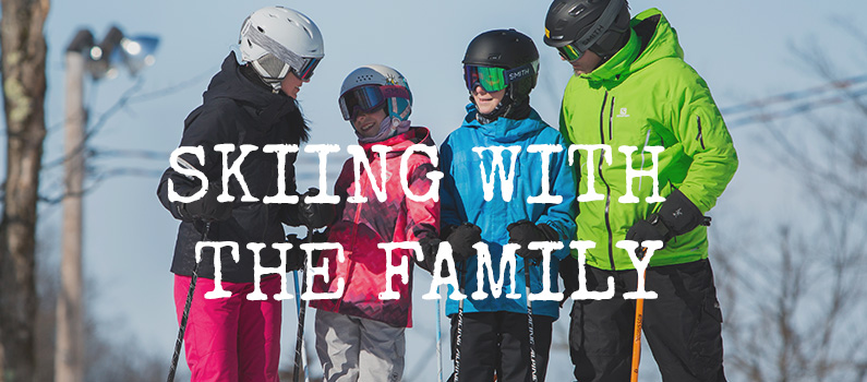 Skiing with the family
