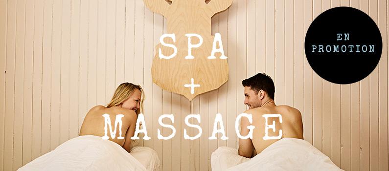 Spa + massage en promotion